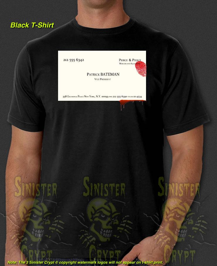 American Psycho Business Card Patrick Bateman New T-Shirt S-6XL   eBay