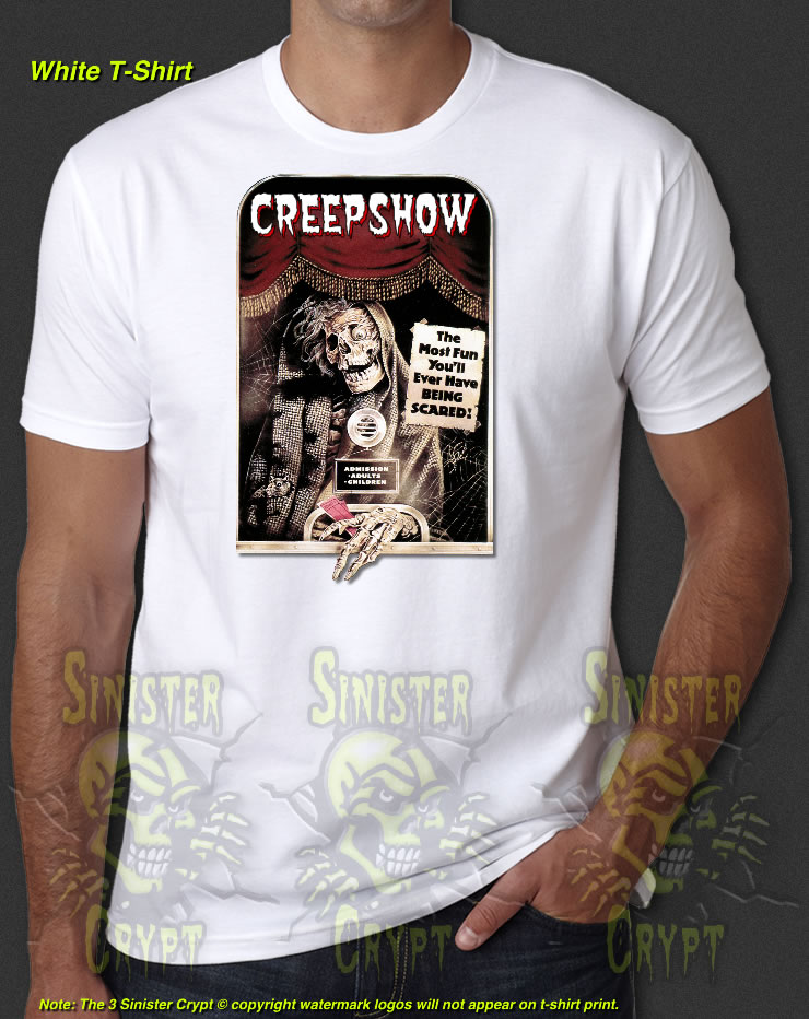 dc695ea5f20 Creepshow Classic Horror Movie 80s Ticket Taker New T-Shirt S-6XL   eBay
