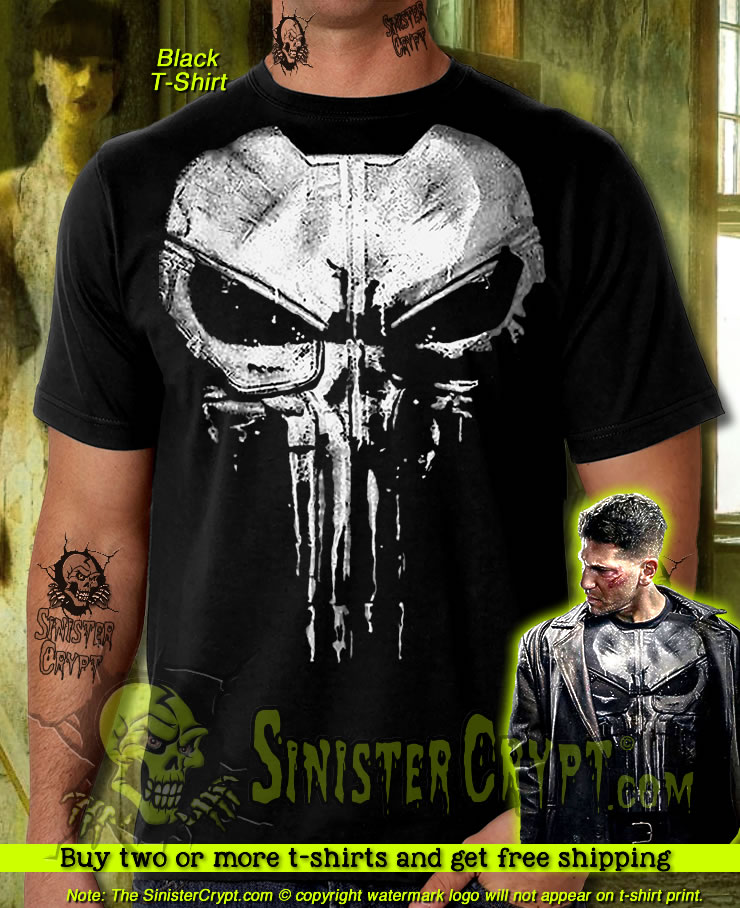 cc9319df8b31 Details about The Punisher New Skull Jon Bernthal Frank Castle Body Armor  Painted T-Shirt S-6X