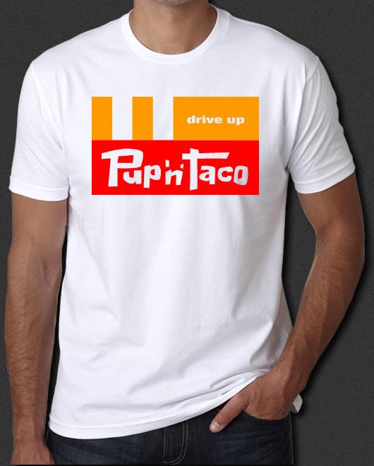 taco pup shirt retro fast runaways food 6xl restaurant 60s 70s