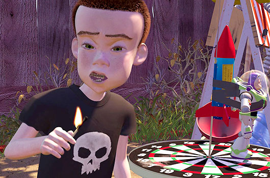 Sid Skull Toy Story Pixar Disney Detailed Reproduction Halloween T