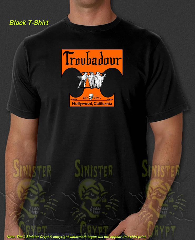 Troubadour Hollywood CA Club Rock Music Metal 60s 70s New T-Shirt S-6XL