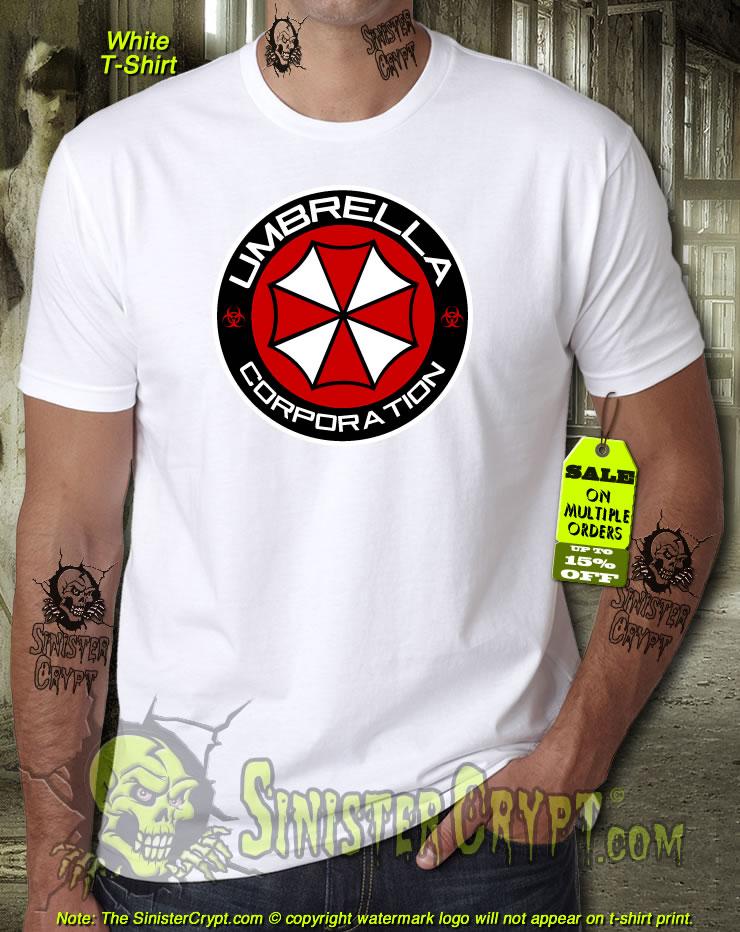 Umbrella Corp T-Shirt Horror Stars City Virus Police Evil Raccoon Outbreak D439