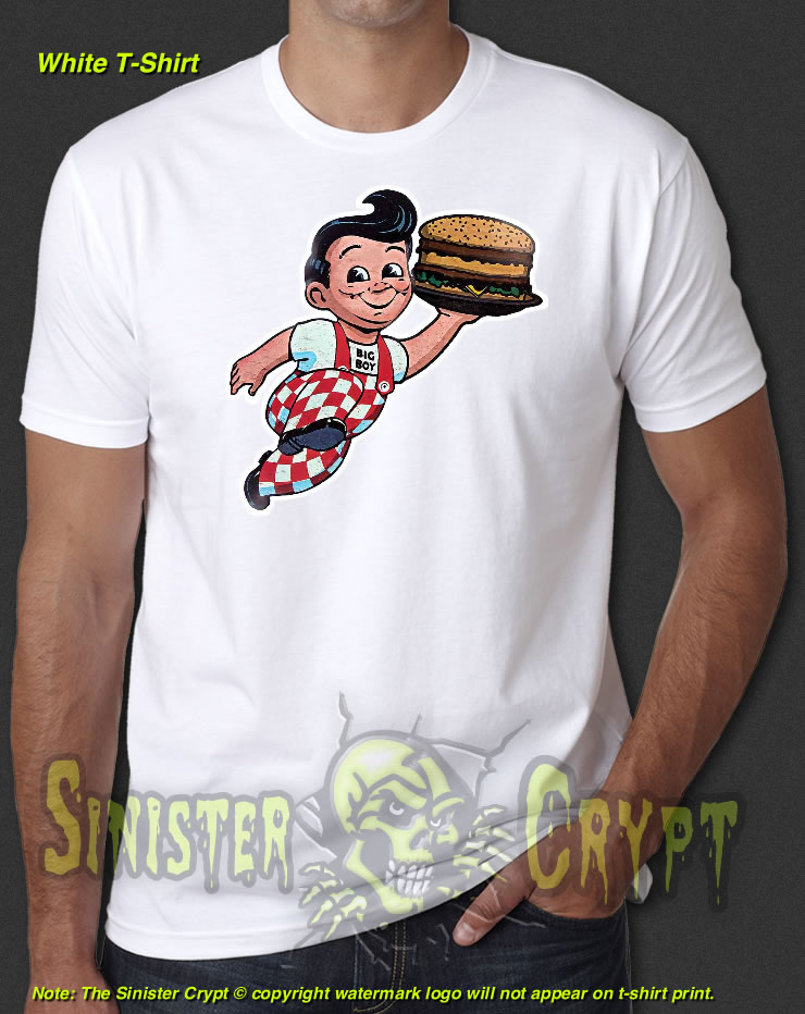 8da23bf02fc Bob s Big Boy White t-shirt Fast Food Retro-Vintage 60 s 70 s S-