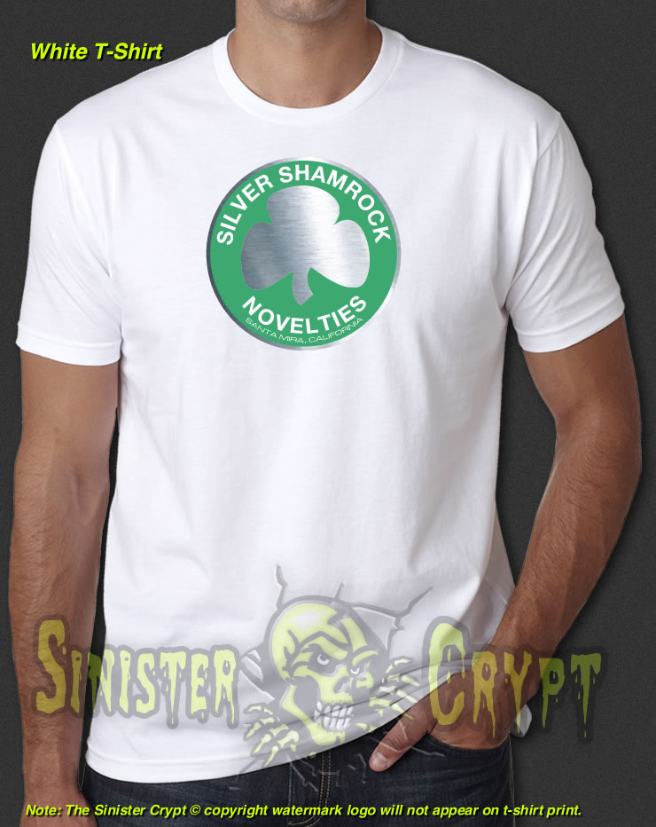 silver shamrock novelties white t shirt halloween iii 3 season of the witch s