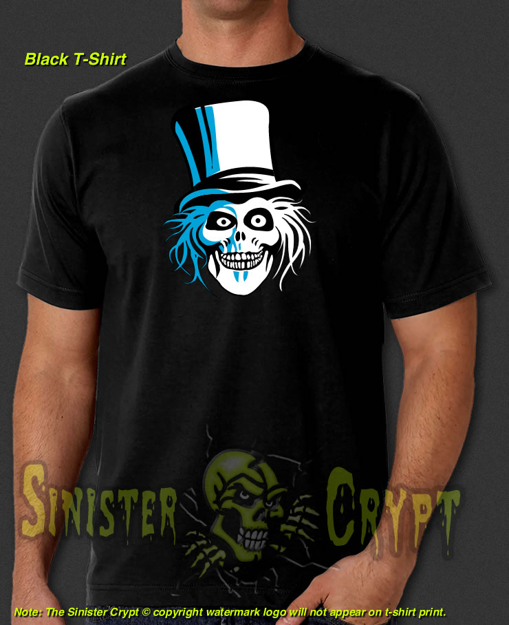 hatbox ghost black t shirt ezra haunted mansion skull disneyland disney s 6xl
