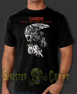 Queen Aliens News of the Galaxy t-shirt