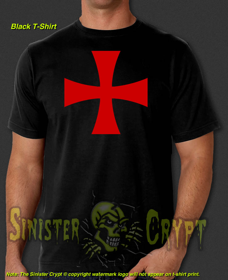Knights Templar Crusader Gift Premium Quality 100/% Cotton T-Shirts